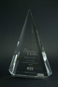 Dancing CEO Community Awareness Award Elena Gosse