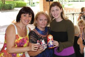 L-R. Elena Gosse, Ludmila Lyubushkina, Hon Sharon Fentiman MP